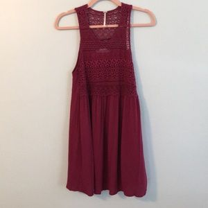 Harlow Long Tunic Lace Tank Lined Size Small